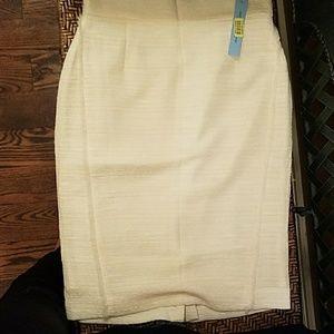 NWT cream pencil skirt